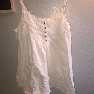 Lucky Brand Spaghetti Strap Embroidered Top